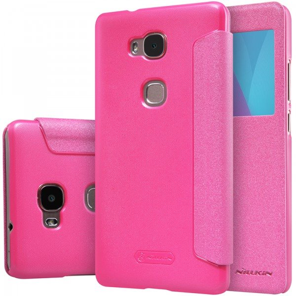 Flip-Leather-Case-For-Huawei-Play-5X-Nillkin-SparkleOut-Window-Cover-For-Huawei-Honor