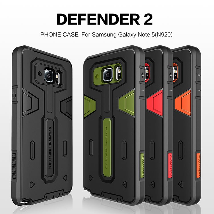 Nillkin-Hybrid-Cover-for-Samsung-Galaxy-Note-5-Case-2-in-1-TPU-PC-Armor-Protective
