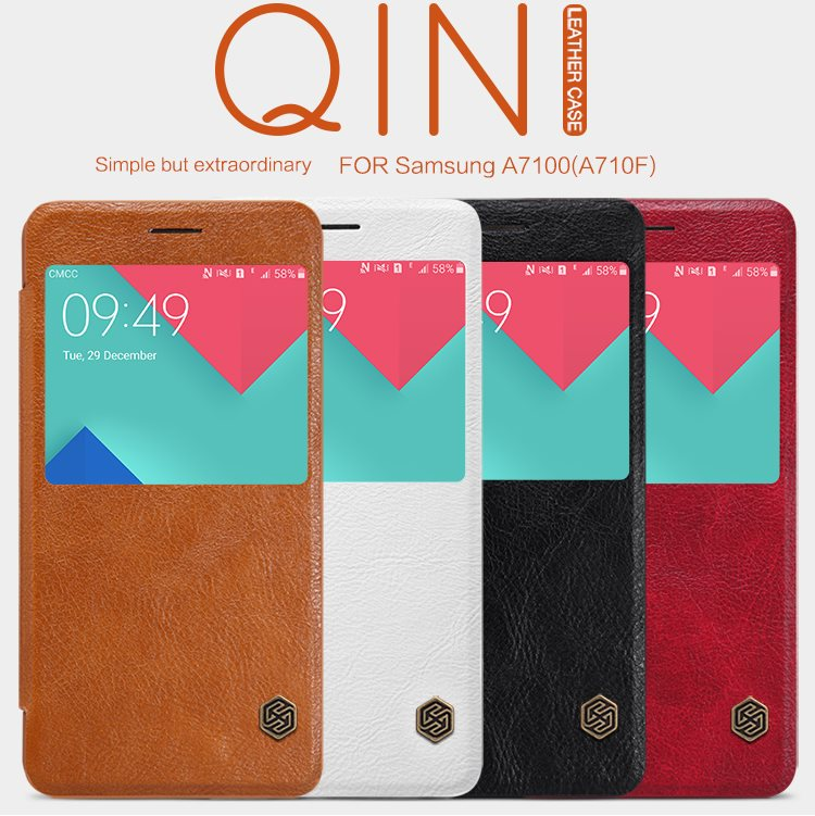 Wholesales-Original-NILLKIN-QIN-Leather-case-For-Samsung-A7100-A710F-Case-Hight-Qualidy-Leather-Case-for