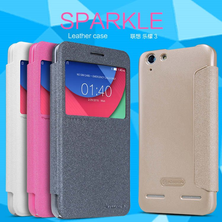 100-Original-NILLKIN-Sparkle-Leather-Case-For-Lenovo-Lemon-3-Free-Shipping-Flip-Case-Cover-For
