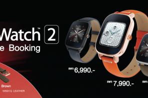 Asus เปิดจอง 'ZenWatch 2′ รัน Android Wear สุดประหยัด ราคาเริ่มต้น 4,990 บาท