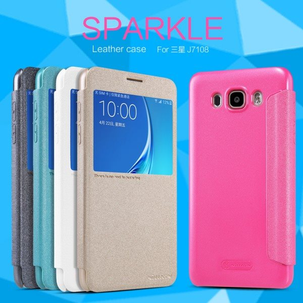 Fashion-For-Samsung-G1alaxy-J7-2016-J710-J7108-J7109-Case-NILLKIN-Sparkle-Series-Flip-Luxury-PU