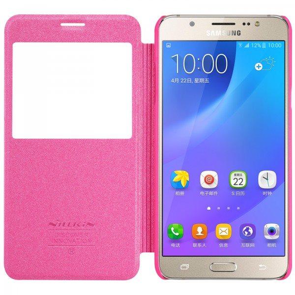 Fashion-For-Samsung-Galaxy-J7-2016-J710-J7108-J7109-Case-NILLKIN-Sparkle-Series-Flip-Luxury-PU