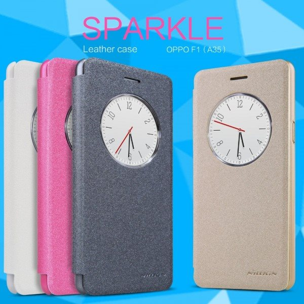 NILLKIN-Sparkle-Leather-Case-For-1OPPO-F1-A35-5-0inch-Pearly-Colorful-Cover-Case-For-OPPO