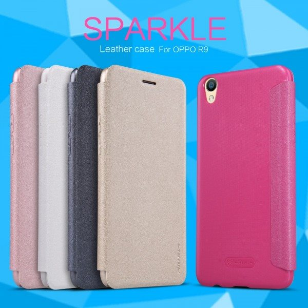 New-Original-NILLKIN-Sparkle-PU-Luxury-Flip-Cover-For-OPPO-R9-Wallet-