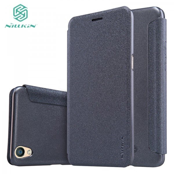 Original-Nillkin-Sparkle-PU-leather-case-for-OPPO-R9-R-9-flip-cover-with-free-gift