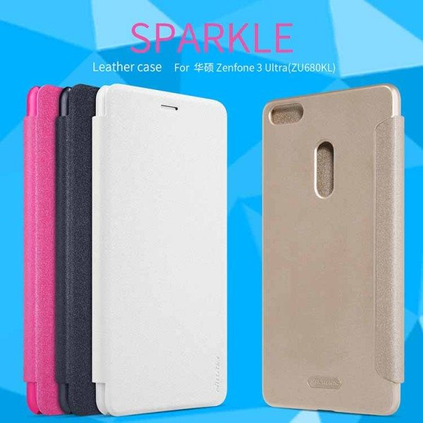 Zenfone-3-Ultra-Case-NILLKIN-Sparkle-PU-Leather-Case-Flip-Cover-Plastic-Back-Cover-For-Asus