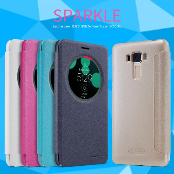 for-asus-zenfone-3-laser-zc551kl-flip-case-nillkin-sparkle-series-smart-hard-plastic-pu-leather