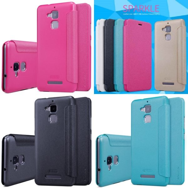 case-for-asus-zenfone-3-max-zc520tld-case-cover-5-2-inch-nillkin-sparkle-pu-leather-tile