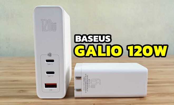 รีวิว baseus galio 120w charger