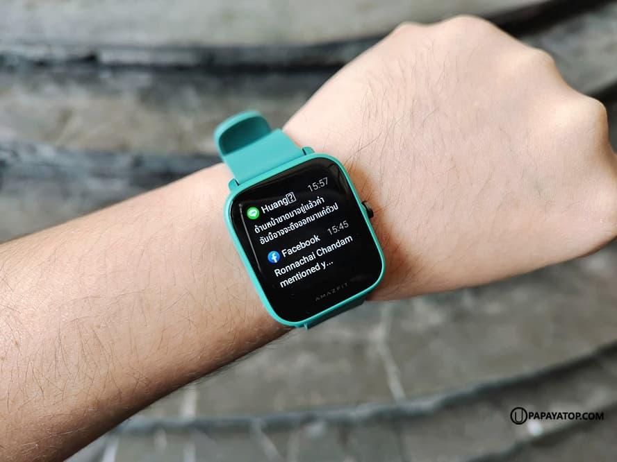 Amazfit Bip U มาพร้อมคุณสมบัติพื้นฐานครบ รองรับกิจกรรมต่างๆ นอน วิ่ง เดิน ว่ายน้ำ ฯลฯ แจ้งเตือน App ภาษาไทย สวมใส่สบาย แบตเตอรี่อึด (> 7 วัน) เปลี่ยนหน้าปัด (Watch Face) ตั้งค่าผ่าน ZEPP แอปฯ ค่อนข้างฉลาดทีเดียว